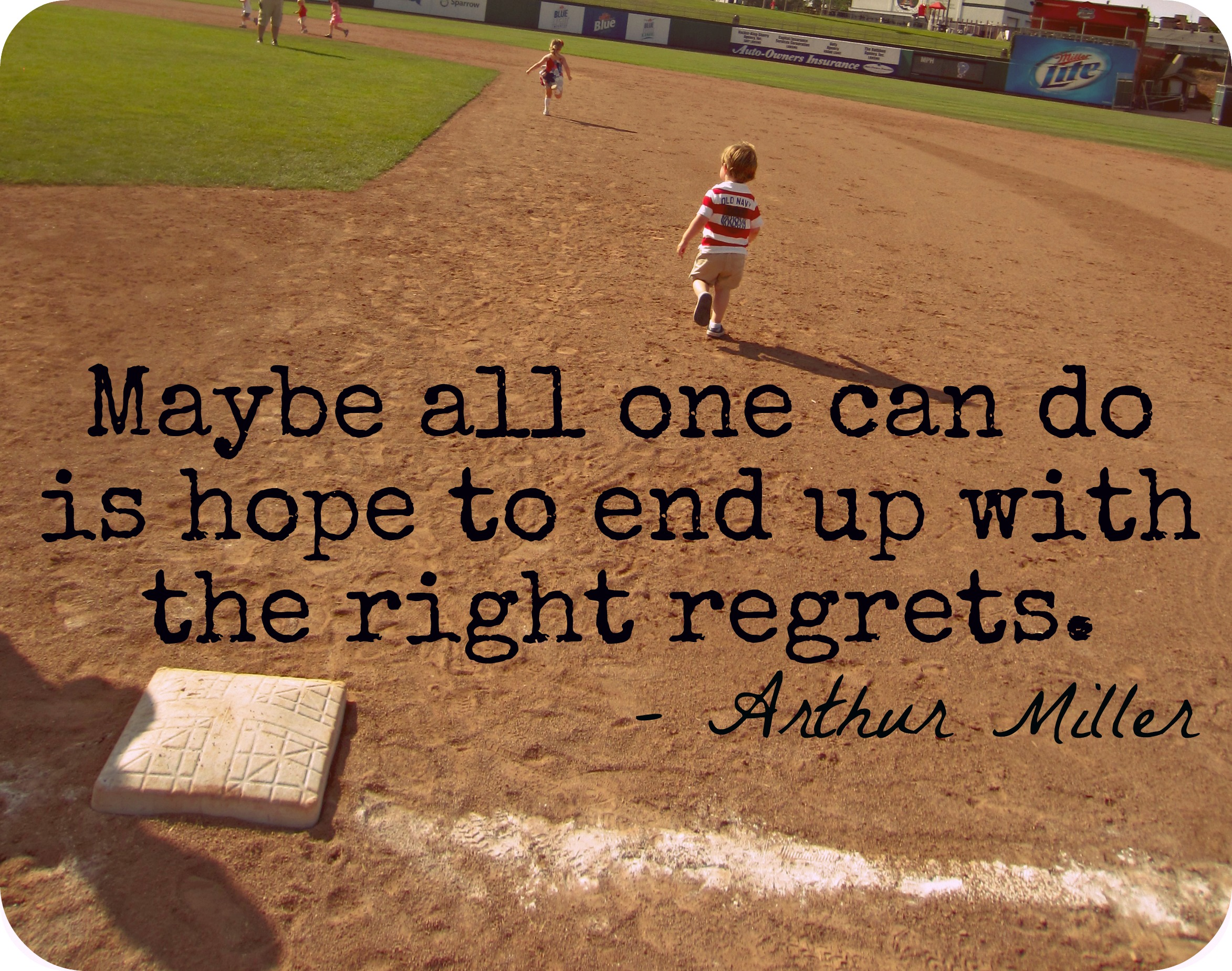 Baseball Quote Arthur Miller Quote  Angela Amman