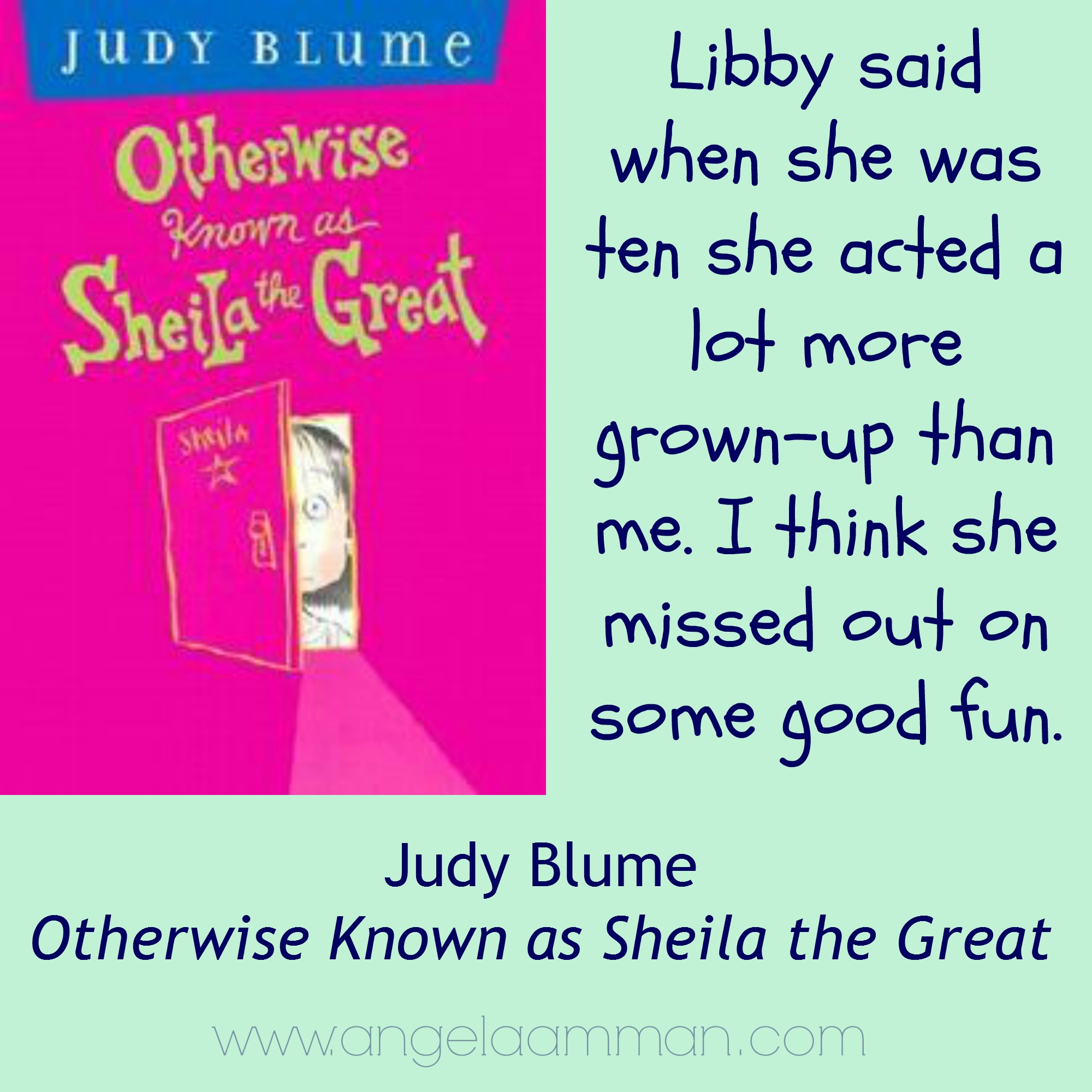 judy blume otherwise known as sheila the great book report Otherwise known as sheila the great - ebook written by judy blume read this book using google play books app on your pc, android, ios devices download for offline.
