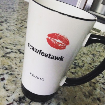 one of my favorite takeaways from BlogHer - lots of coffee fits in this mug
