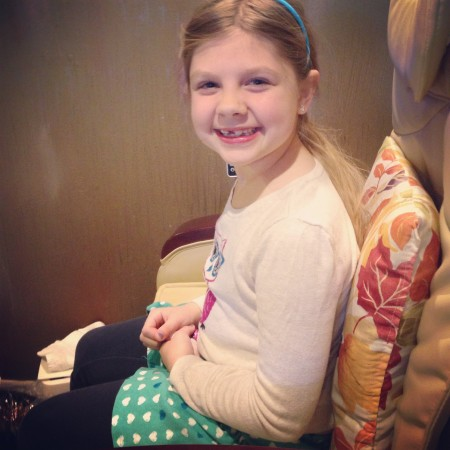 pre-first Communion pedicures with my favorite girl